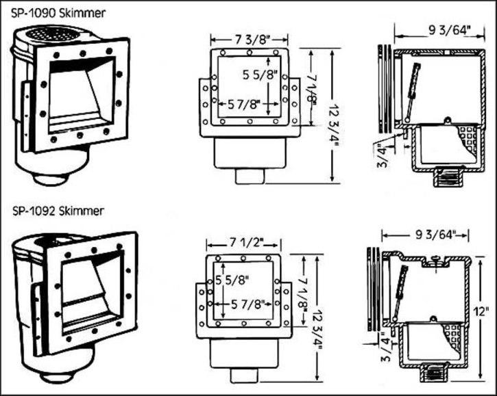 Hayward Skimmers Models Sp 1090 1092