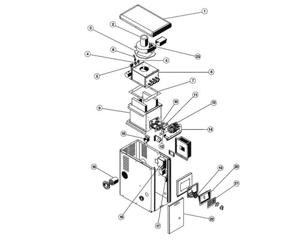 Hayward Pool Heater Parts 400 Wiring Diagram A G Induced Draft H100id