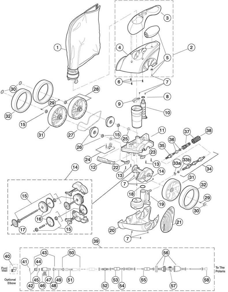 polaris 3900 replacement parts Engine Fuel Filter