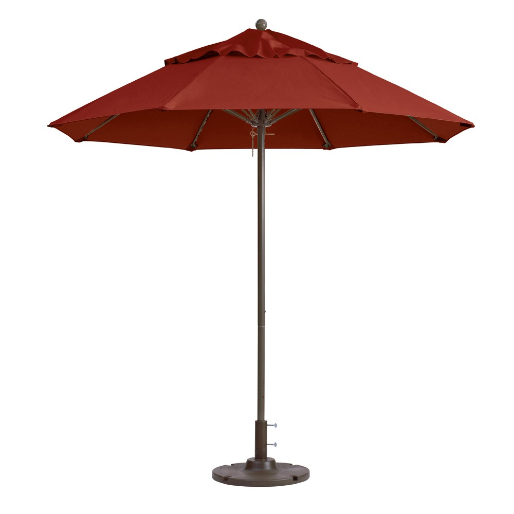 7.5ft Windmaster Fiberglass Umbrella, Terra Cotta