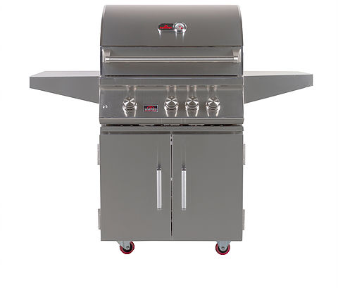 Bonfire 3 Burner Gas Grill Cart with Double Door Cart- Natural Gas