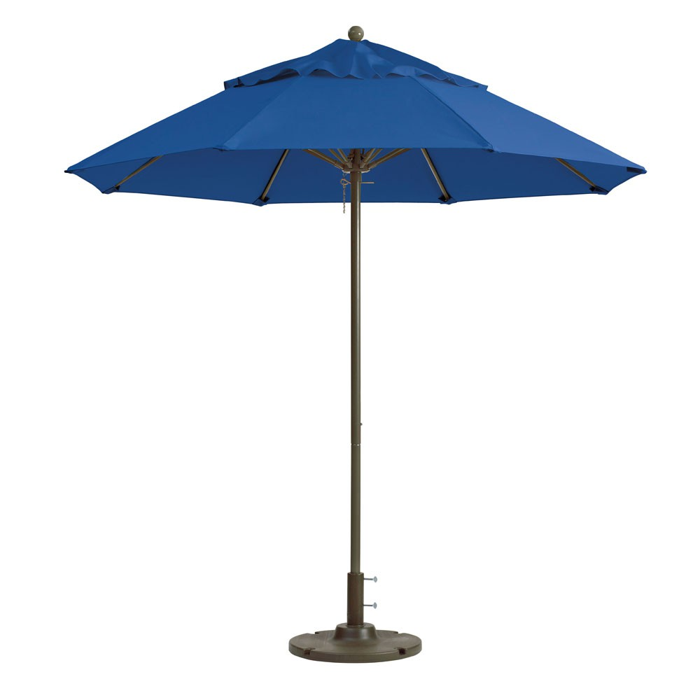 7.5ft Windmaster Fiberglass Umbrella , Pacific Blue
