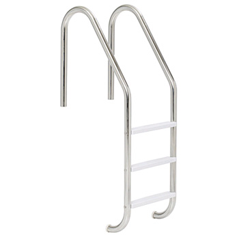 2 Step In-Ground Stainless Steel Pool Ladder - S.S Treads