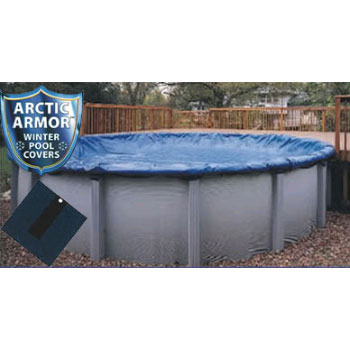 10' x 20' Oval Arctic Armor Bronze Winter Pool Cover 8yr - 4' Overlap