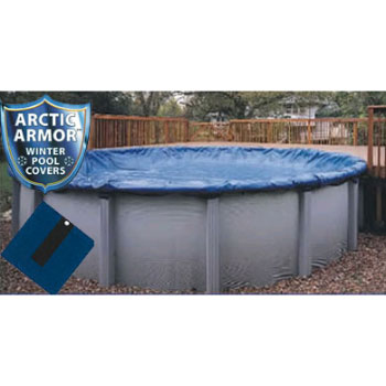 12' Round Arctic Armor Gold Winter Pool Cover 15yr - 4' Overlap