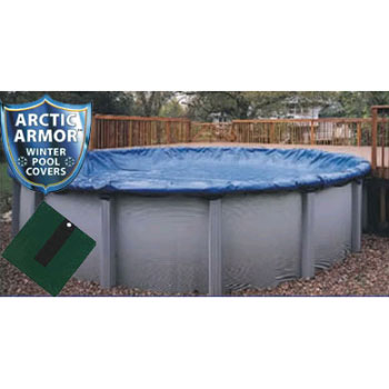 12' Round Arctic Armor Silver Winter Pool Cover 12yr - 4' Overlap