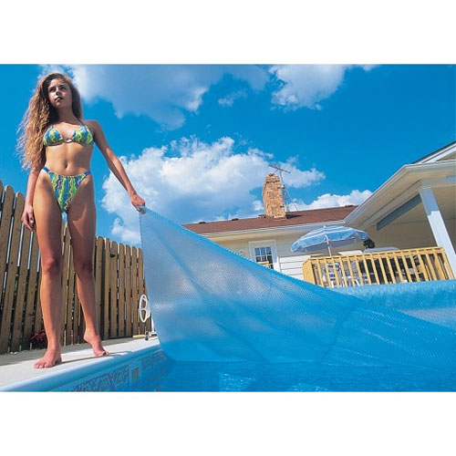 12' x 24' Rectangle Deluxe Blue In-Ground Pool Solar Blanket - 5yr Warranty