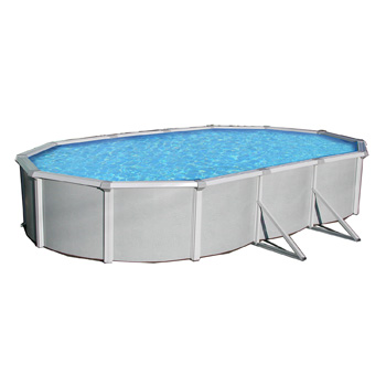 Samoan 21 X 41 Oval 52 Quot Steel Pool With 8 Quot Toprail Nb1651