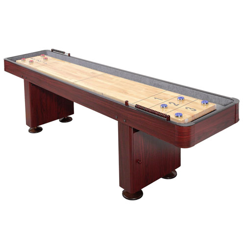 Carmelli 9 Ft. Shuffleboard Table - Dark Cherry