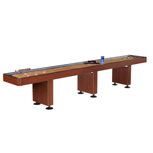 Carmelli 14' Shuffleboard Table - Dark Cherry