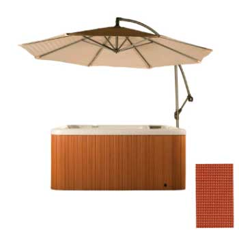 Cover Valet Spa Side Umbrella - Rust