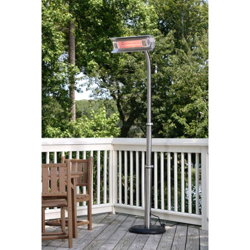 Fire Sense SS Telescoping Offset Pole Mounted Infrared Patio Heater