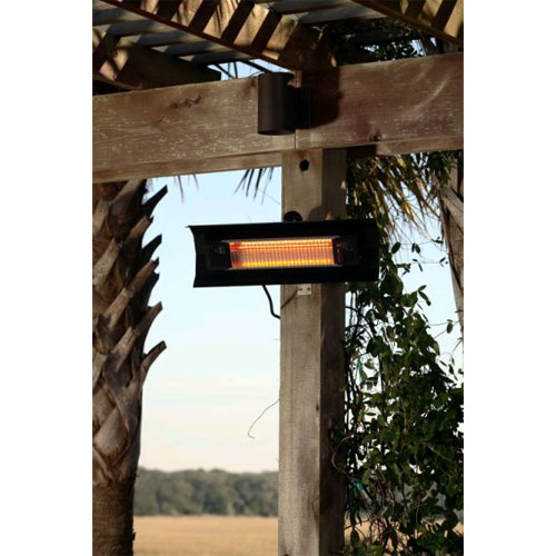Patented 1500 Watt Black Steel Wall Mounted Infrared Patio Heater.