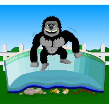 Gorilla Floor Padding for 15' rd Above Ground Pools