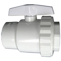 Hayward SP-722S 2 Way Ball Valve 1 1/2 SKT Material: PVC