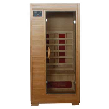 Buena Vista 1 Person HeatWave Infrared Sauna w/ Ceramic Heater