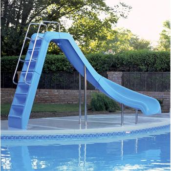 interfab 6 wild ride swimming pool slide blue right turn wrs