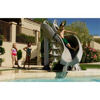 30f5249a5 Inter-Fab X-Stream Swimming Pool Slide - Summit Gray