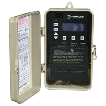 Intermatic 3-Circuit Digital Timer in Rainproof Enclosure  - 120/240V