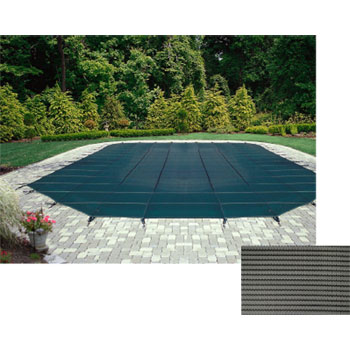 12' x 24' Rectangle 12yr Mesh Safety Pool Cover - Gray