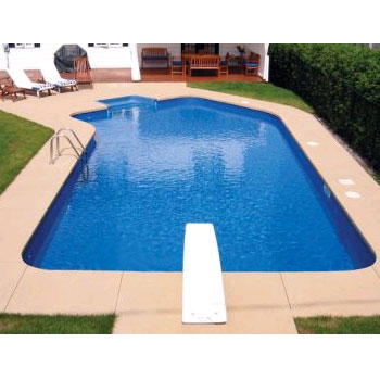 16' x 39' Steel Lazy-L Inground Swimming Pool Kit - 2' Radius
