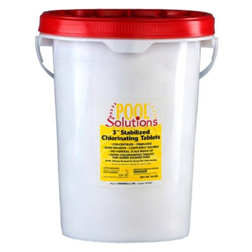 Pool Solutions 3 Quot Stabilized Chlorine Tablets 50lb P27050de