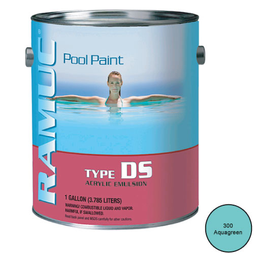 Ramuc Acrylic Damp Set Swimming Pool Paint - 1 Gallon - Aqua Green