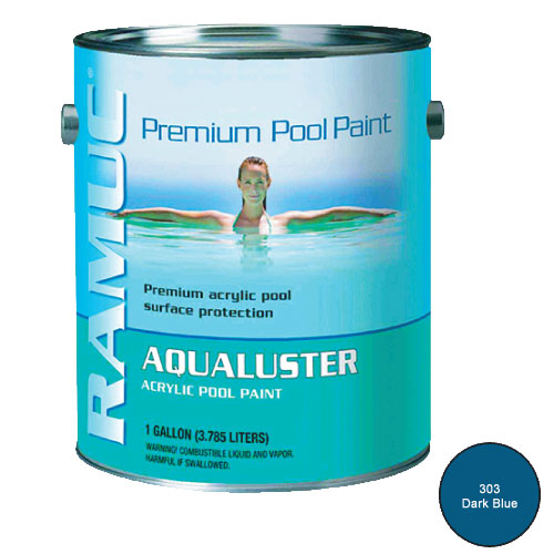 AquaLuster Swimming Pool Paint - 1 Gallon - Dark Blue
