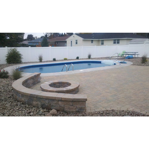 Rockwood 12' x 18' Oval On Ground Pool Package