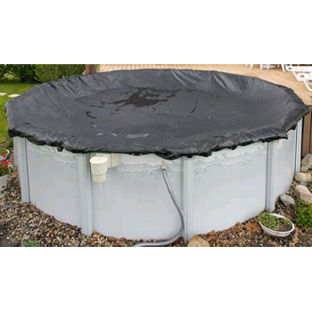 12' Round Rugged Mesh Above Ground Winter Cover - 8yr