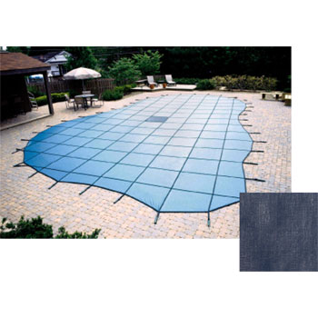 12' x 20' Rectangle 20yr Solid Safety Pool Cover w/ Drain - Blue