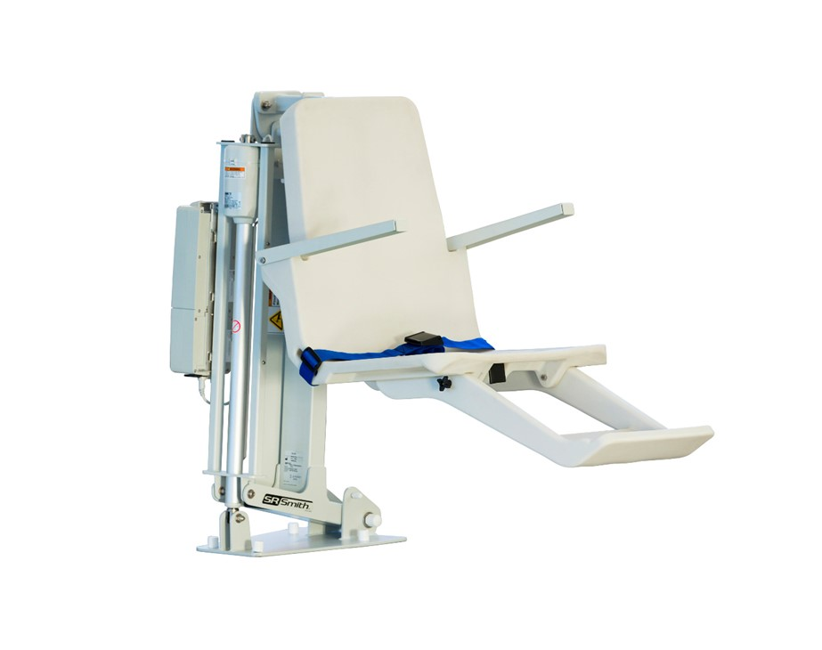 S.R. Smith ML300 ADA Compliant Flanged Mounted Pool Lift w/ Armrest - Includes Anchor