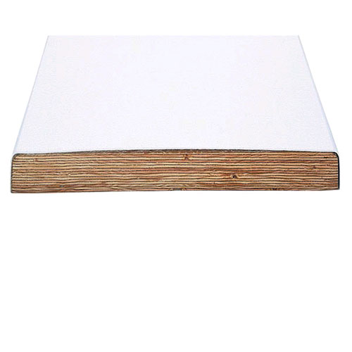 10' Swim Club Commercial Fiberglass Reinforced Wood - White