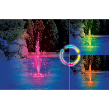 Floating Color Changing LED Pool Fountain