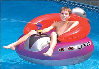 "UFO 45"" Spaceship w/ Water Gun"