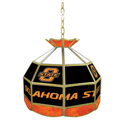 Oklahoma State University Stained Glass Lamp 16 Inch