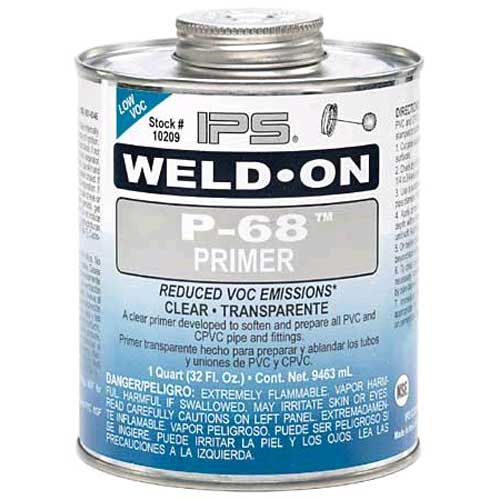 Ips Weld On 68 Pvc Primer Clear 13575