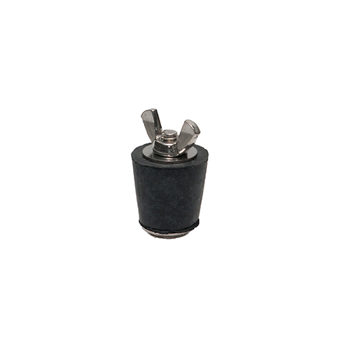 Winter Rubber Plug w/ Stainless Steel Wingnut - #4 3/4 - 1