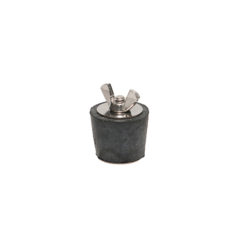Winter Rubber Plug w/ Stainless Steel Wingnut - #6 1