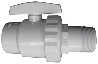 Hayward Trimline Ball Valve, 2 Way MPT x FPT 1 1/2